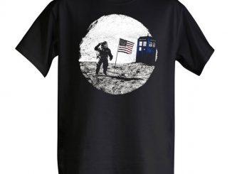 Moon Landing TARDIS Photobomb T-Shirt