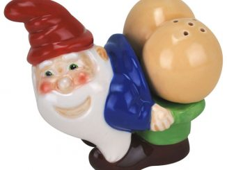 Mooning Gnome Salt and Pepper Shaker Set