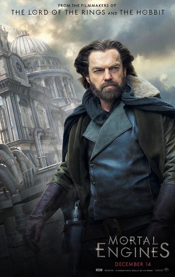 Mortal Engines Hugo Weaving Poster