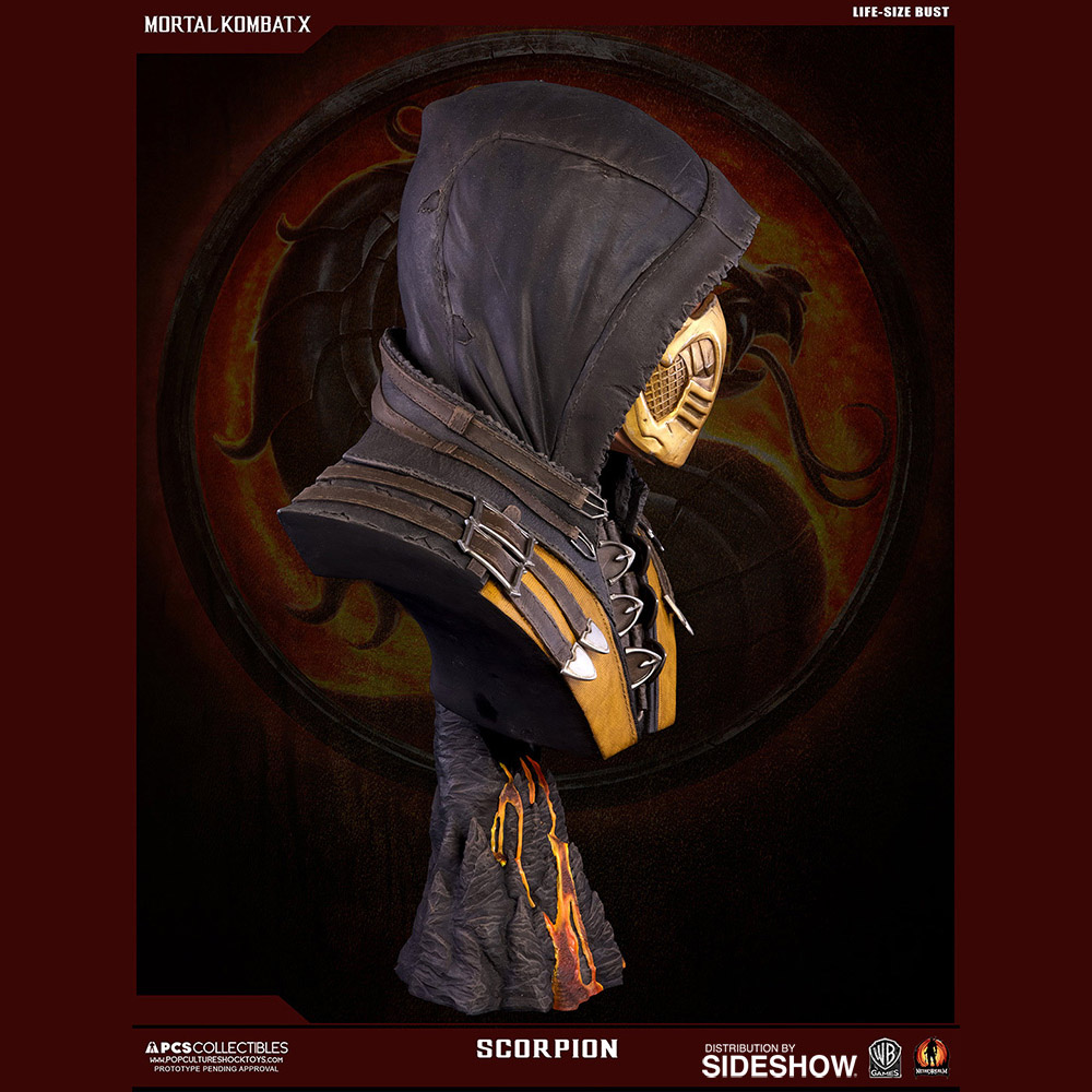 Mortal Kombat Scorpion Life-Size Bust - photo#40