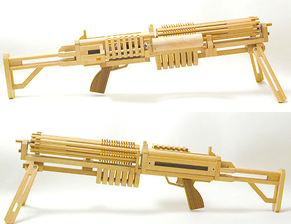 Motorized Rubber Band GATLING GUN