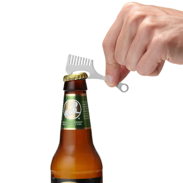 Moustache Comb Bottle Opener