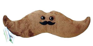 Moustachio Plush Pillow