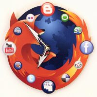 Mozilla-Firefox-Icon-Wall-Clock
