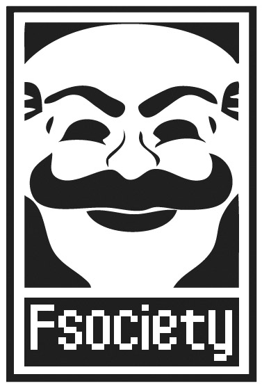 Mr Robot F Society Vinyl Car Sticker 1