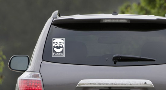 Mr Robot F Society Vinyl Car Sticker 2
