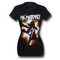 Ms Marvel Kamala Silhouette Womens T-Shirt
