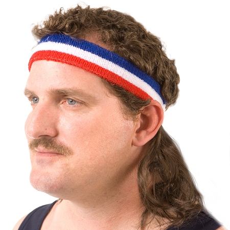 mullet on the go headband geekalerts. Black Bedroom Furniture Sets. Home Design Ideas