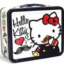 Mustache Hello Kitty Lunch Box