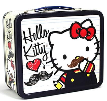 Mustache Hello Kitty Lunch Box