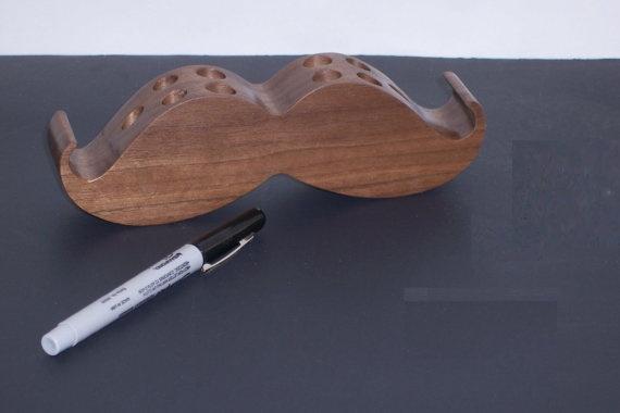 Mustache Pen Holder
