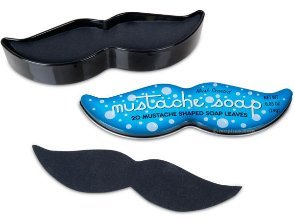 Mustache Soap Leaves