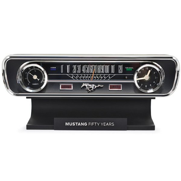 Mustang 50th Anniversary Desktop Sound Clock Thermometer