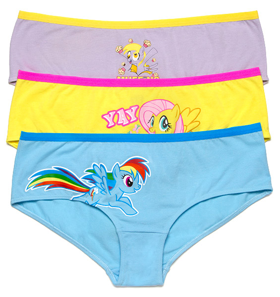 My Little Pony 3 Pack Panties