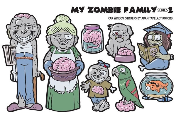 My-Zombie-Family-(Series-2)-Car-Stickers