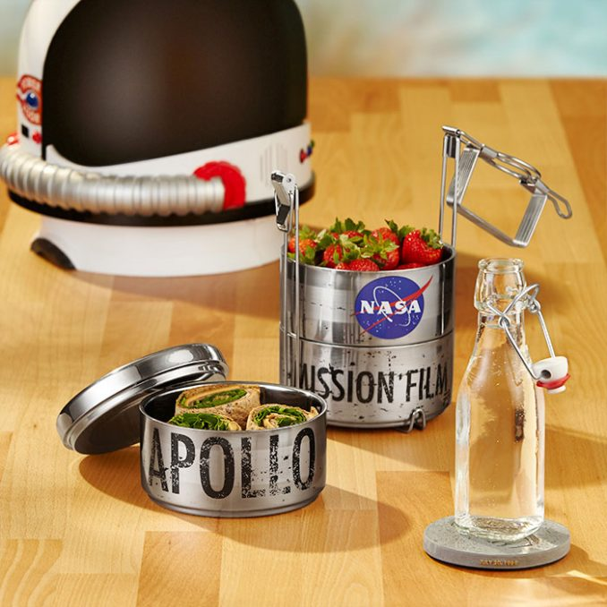 NASA Apollo 11 Film Reel Canister Lunchbox