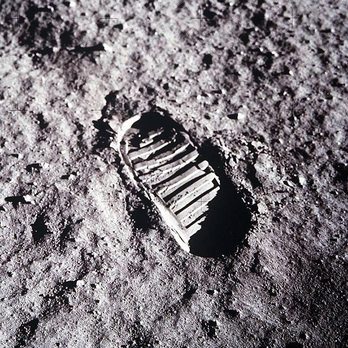 NASA Lunar Bootprint