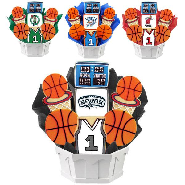NBA Cookie Gift Baskets