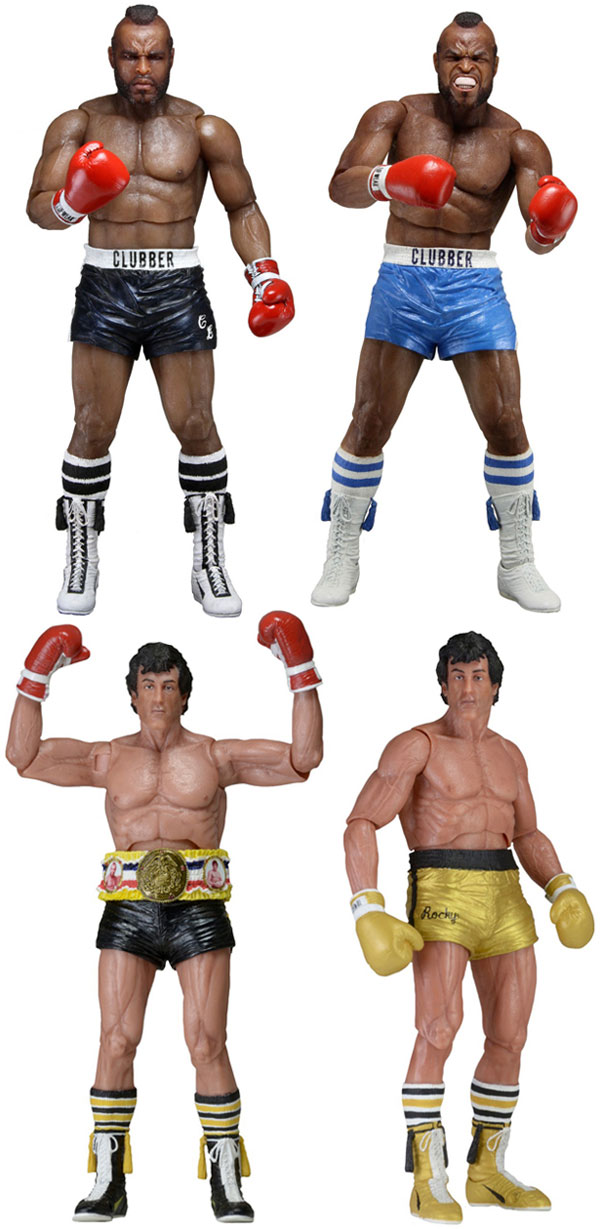 NECA Rocky 40th Anniversary 7 Inch Scale Action Figures Series 1 Rocky III