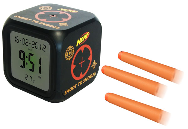 NERF Shoot to Snooze Alarm Clock