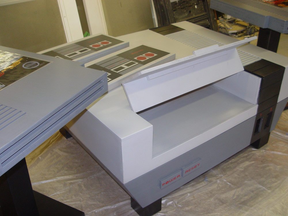 NES Coffee Table And Cartridge End Tables