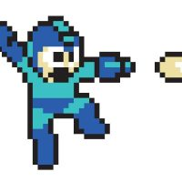 NES Mega Man Re-Stik Wall Stickers