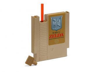 NES Zelda Hydration Cartridge with Straw