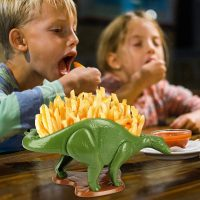 Nachosaurus Dinosaur Frech Fry Dish