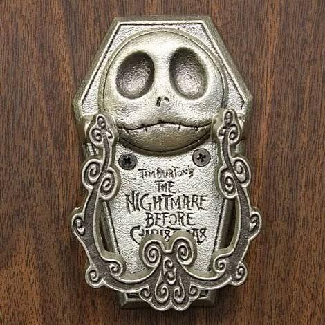 Fun yet creepy nightmare before christmas jack bite pewter door