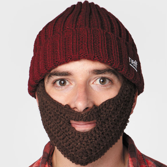 Knitting Patterns By Needle Size : Neff Lumberjack Knit Hat with Removable Beard