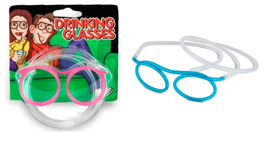 Neon Drinking Straw Sunglasses
