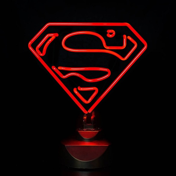 Neon Superman Sign