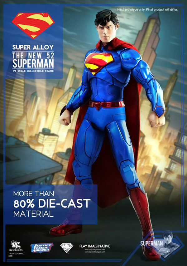 New 52 Jim Lee Superman Alloy Action Figure