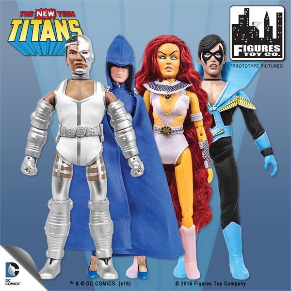 Teen Titans Toys Action Figures : New teen titans retro inch action figures series