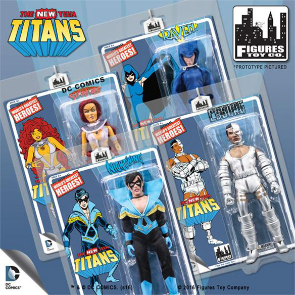 New Teen Titans Retro 8-Inch Action Figures Series 1