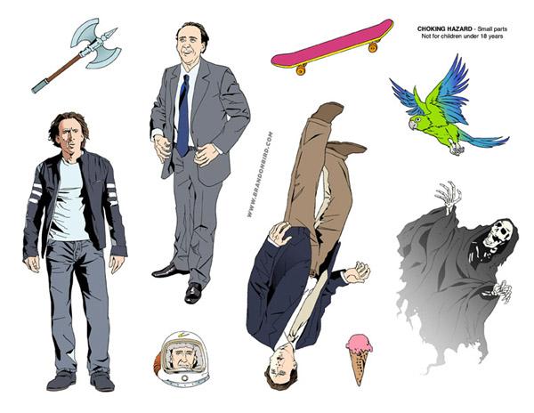 Nicolas Cage Adventure Set Stickers