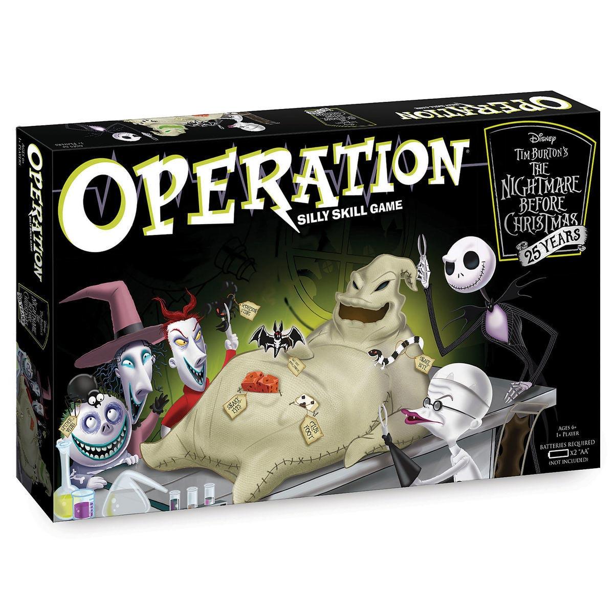 Nightmare Before Christmas 25 Years Operation Game