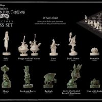 Nightmare Before Christmas 25th Anniversary Chess Set Box Back