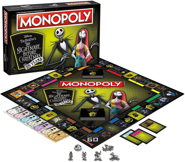 Nightmare Before Christmas 25th Anniversary Monopoly – GeekAlerts
