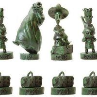 Nightmare Before Christmas Collectors Chess Set Black Pieces