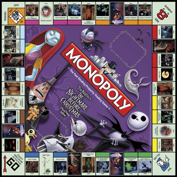 Nightmare Before Christmas Collector's Edition Monopoly