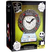 Nightmare Before Christmas Countdown Table Clock Box