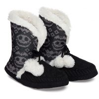 Nightmare Before Christmas Fair Isle Boot Slippers