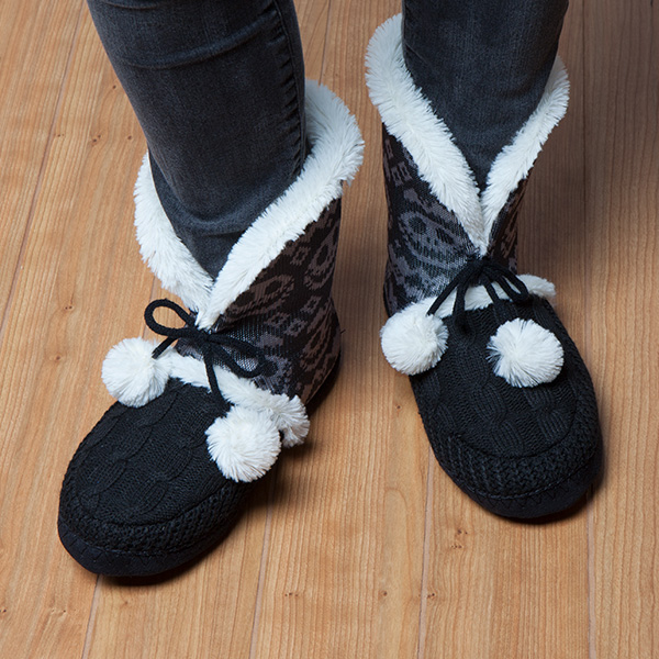 Before Christmas Fair Isle Boot Slippers