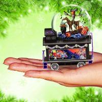 Nightmare Before Christmas Glitter Globe Train Halloween Town