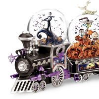 Nightmare Before Christmas Glitter Globe Train Jack Skellington