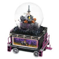 Nightmare Before Christmas Glitter Globe Train Mayor