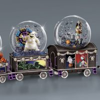 Nightmare Before Christmas Glitter Globe Train Oogie Boogie
