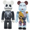 Nightmare Before Christmas Jack & Sally Bearbrick 2-Pack