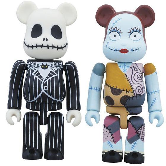 Nightmare Before Christmas Jack & Sally Bearbrick 2-Pack